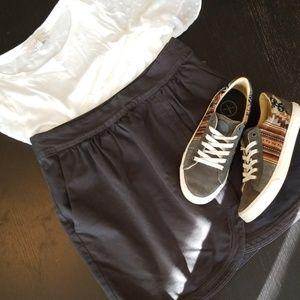Anthropolgie gray canvas skirt
